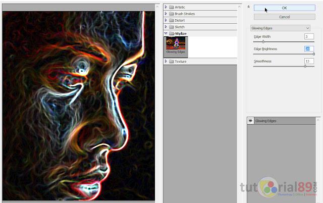 Cara membuat efek glowing edges dengan photoshop