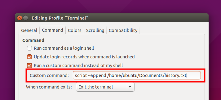 Ubuntu Buzz !: Record Ubuntu Terminal Output History In Text