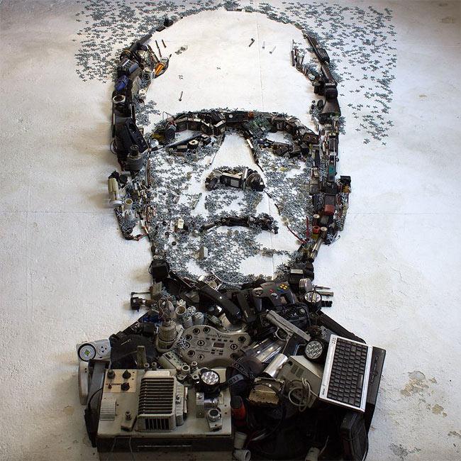 Artista desarrolla fantásticos y detallados retratos usando artefactos y objetos