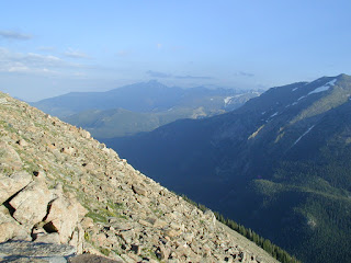 View of Forest Canyon from Forest Canyon Overlook on Trail Ridge Road, Rocky Mountains N.P.