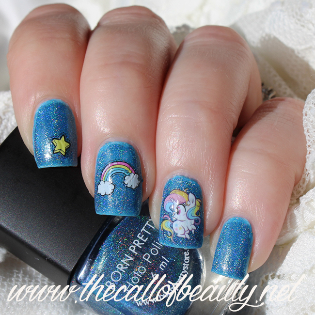 Rainbow & Unicorn Nail Art