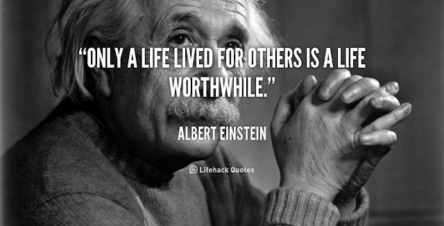 Albert Einstein quote about life.