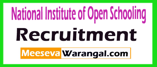 National Institute of Open Schooling NIOS Recruitment