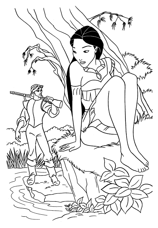Disney coloring pages coloring.filminspector.com Pocahontas