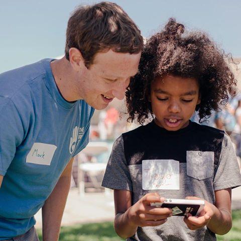 Mark Zuckerberg With Tayo