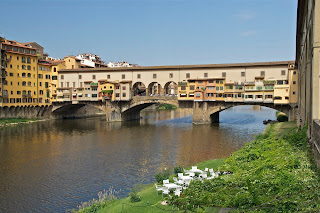 The Ponte Vecchio is one of the most famous of many famous landmarks in Florence