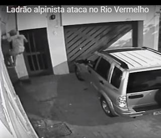 Ladrão alpinista ataca no Rio Vermelho - confira vídeo completo
