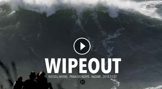 Wipeout Russell Bierke Raw Footage Nazaré Portugal - 2018 11 07 Surf Big Waves 4K