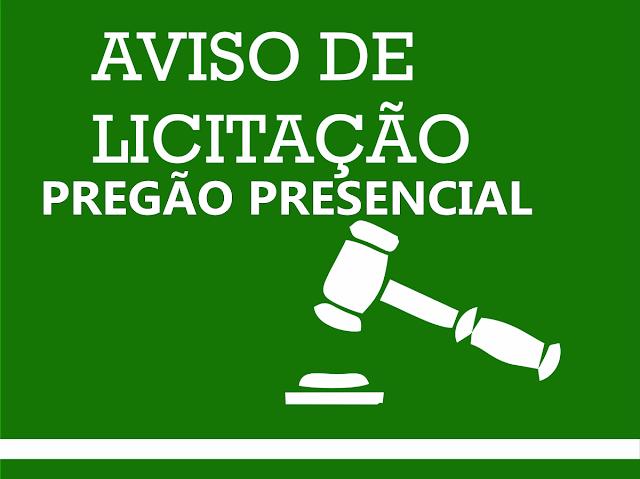 TARAUACÁ: PREFEITURA  ABRE PREGÃO PRESENCIAL PARA AQUISIÇÃO DE MATERIAIS DE CONSTRUÇÃO, HIDRÁULICO E OUTROS