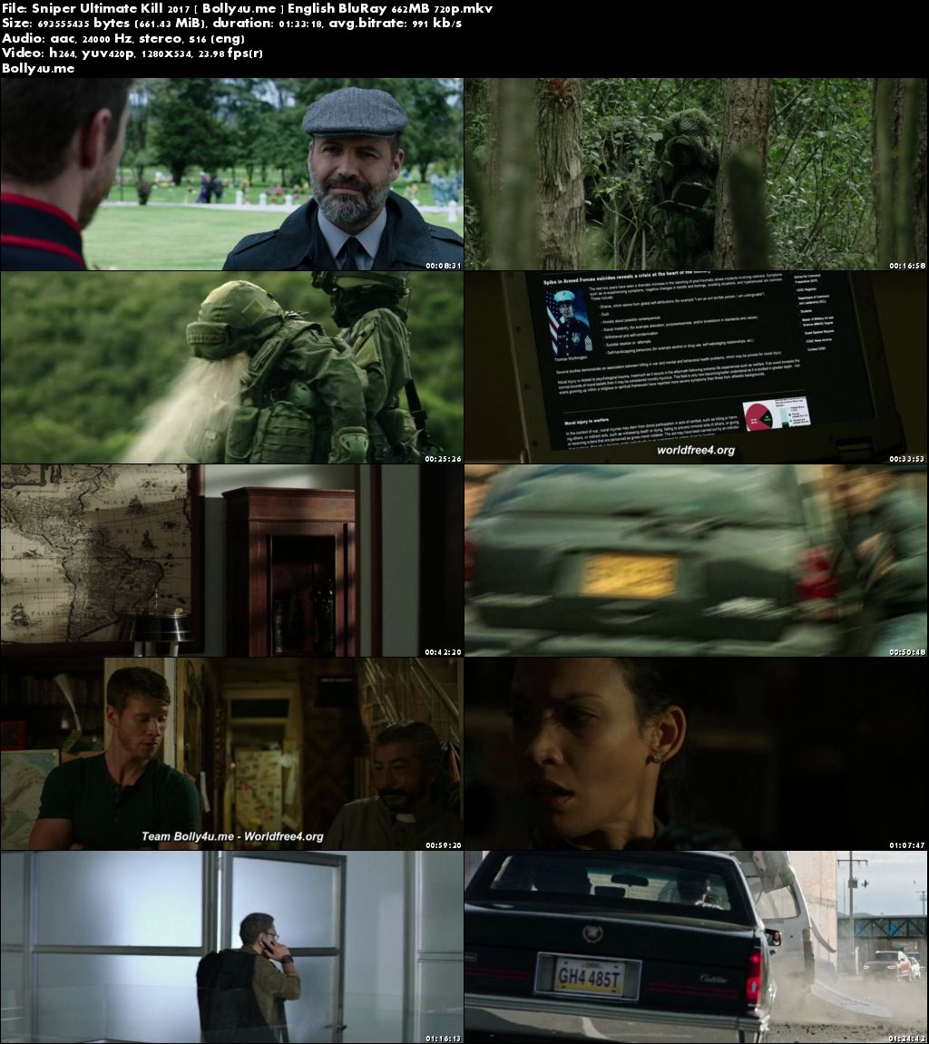 Sniper Ultimate Kill 2017 BRRip 280MB Full English Movie Download 480p