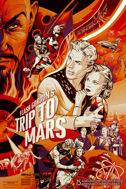 Flash Gordon's Trip To Mars Screen Print by Martin Ansin