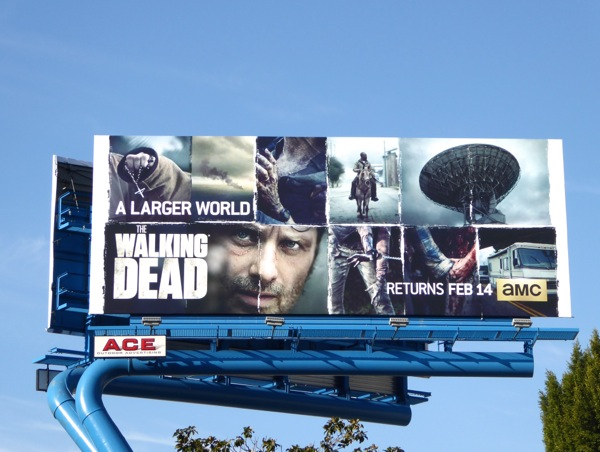 The Walking Dead A larger world billboard