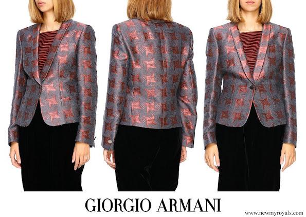 Queen Mathilde wore Giorgio Armani blazer Fall-Winter 2019-20 collection