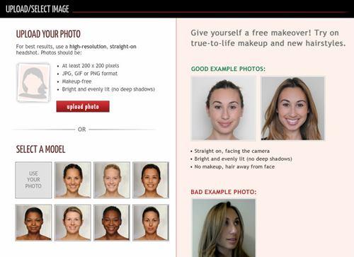 simulador de cabelo online da TAAZ