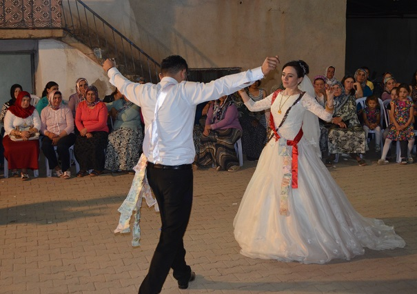 The Bride And Groom Dance Mutually