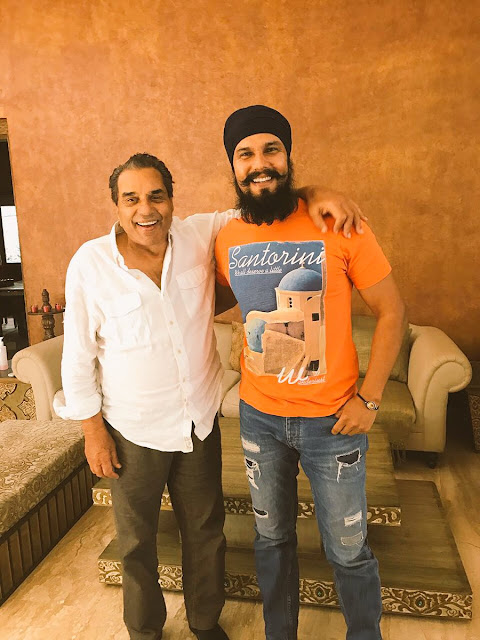 Randeep Hooda with Dharmendra