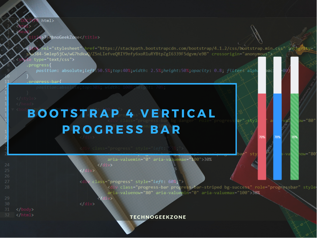 Solved] Bootstrap 4 Vertical Progress Bar | Create Vertical Progress