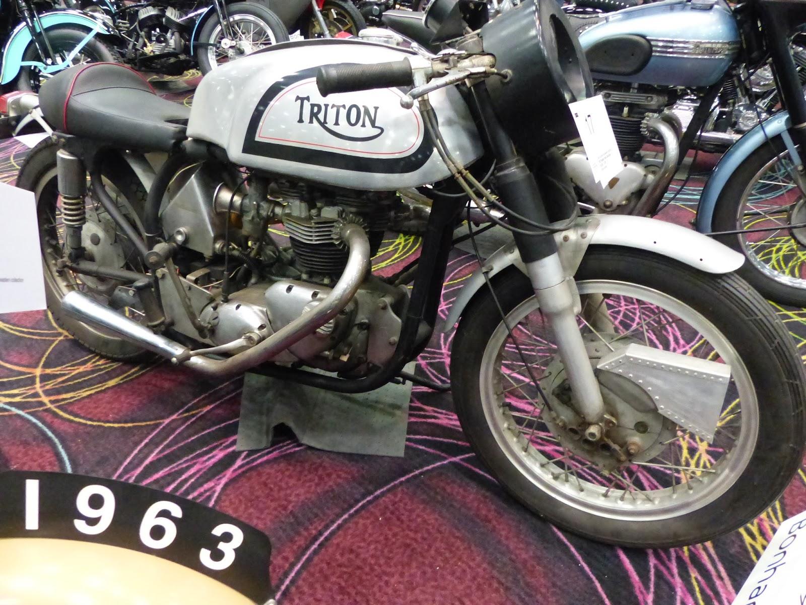 Evel Knievel Bike At Bonham S Las Vegas Moto Auction: OldMotoDude: 1972 Triumph Triton Sold For $8,900 At The