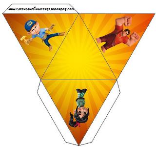Caja con forma de pirámide de Ralph el Demoledor.
