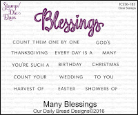 ODBD Many Blessings Stamp/Die Duos