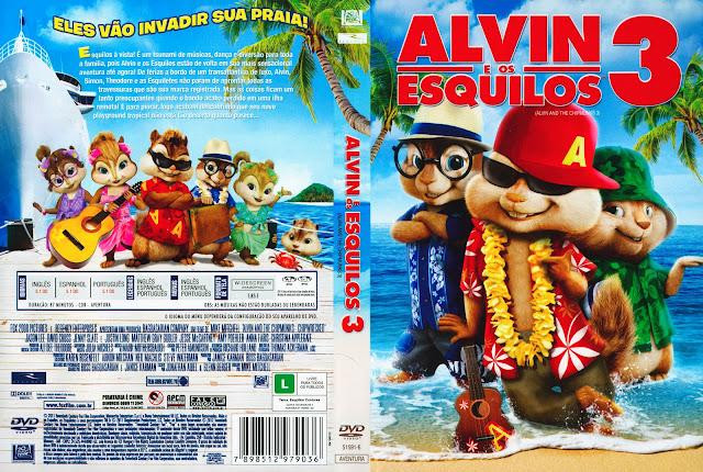 Capa DVD Alvin e os Esquilos 3