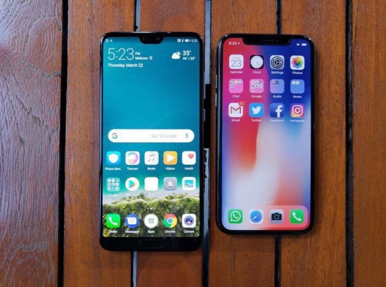 iphone 6 vs huawei p20