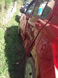 Photo of my damaged car