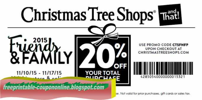 The Christmas Tree Shop Coupons. christmas tree shops 10 off 50 ...