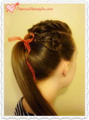 Cute heart hairstyle for Valentine's Day! Video tutorial.