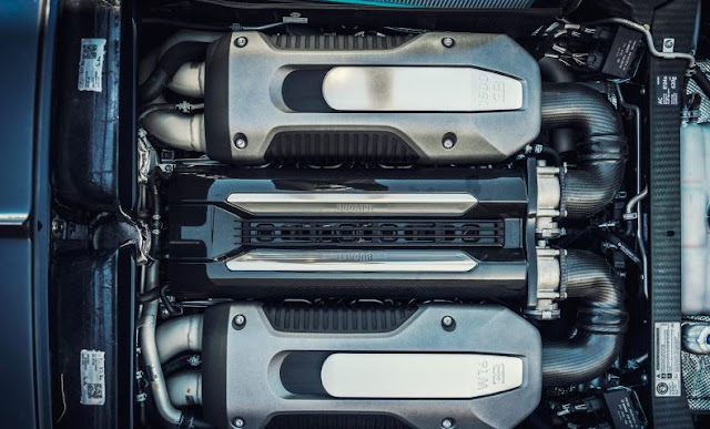2017 Bugatti Chiron Engine