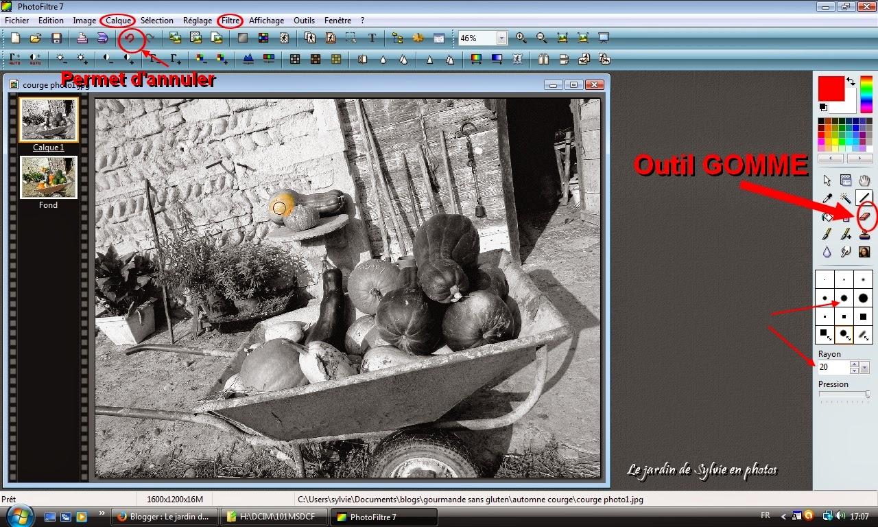 Comment faire apparaitre un élément en couleur sur une photo en noir et blanc