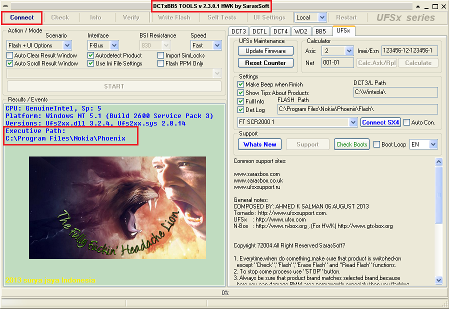 ufs hwk support suite v2.3.0.1