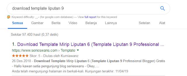 Cara Memasang Rating Star (Rich Snippet) di Hasil Pencarian Google