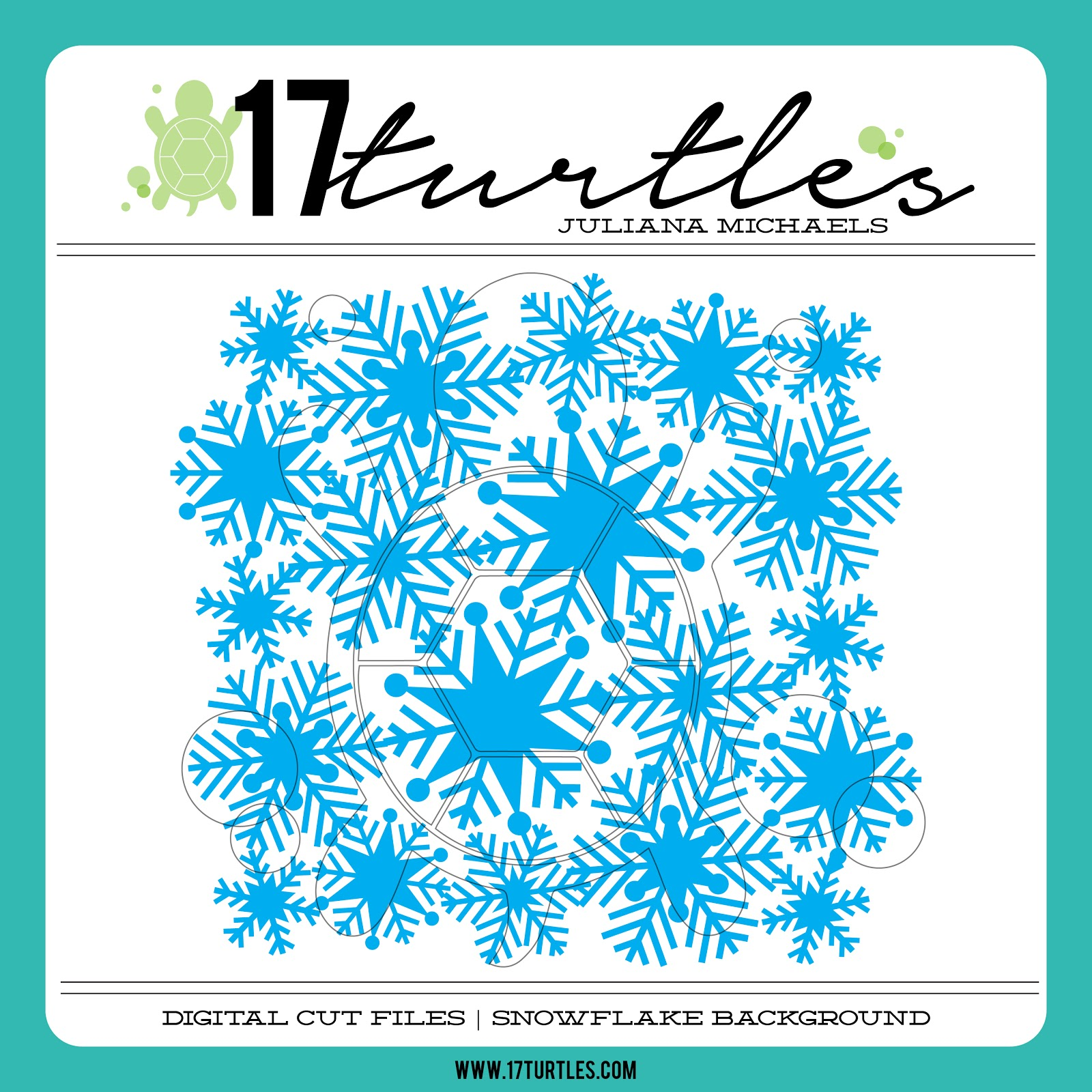 17turtles Digital Cut File Snowflake Background