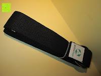 zusammengelegt: Yogagurt »Madira« / Yoga-Belt Gurt 100% Baumwolle mit stabilem Metall-Ring-Verschluss / 250 x 3,8cm / in verschiedenen Farben erhältlich