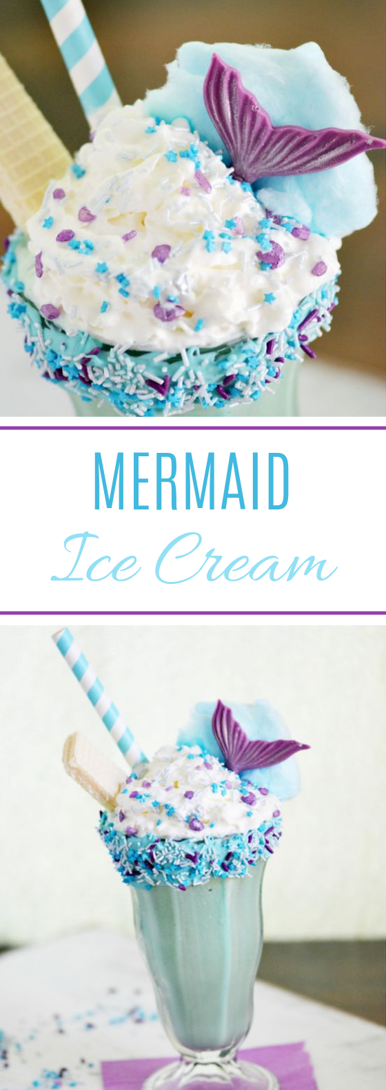 Mermaid Ice Cream Dream Shake #desserts #party