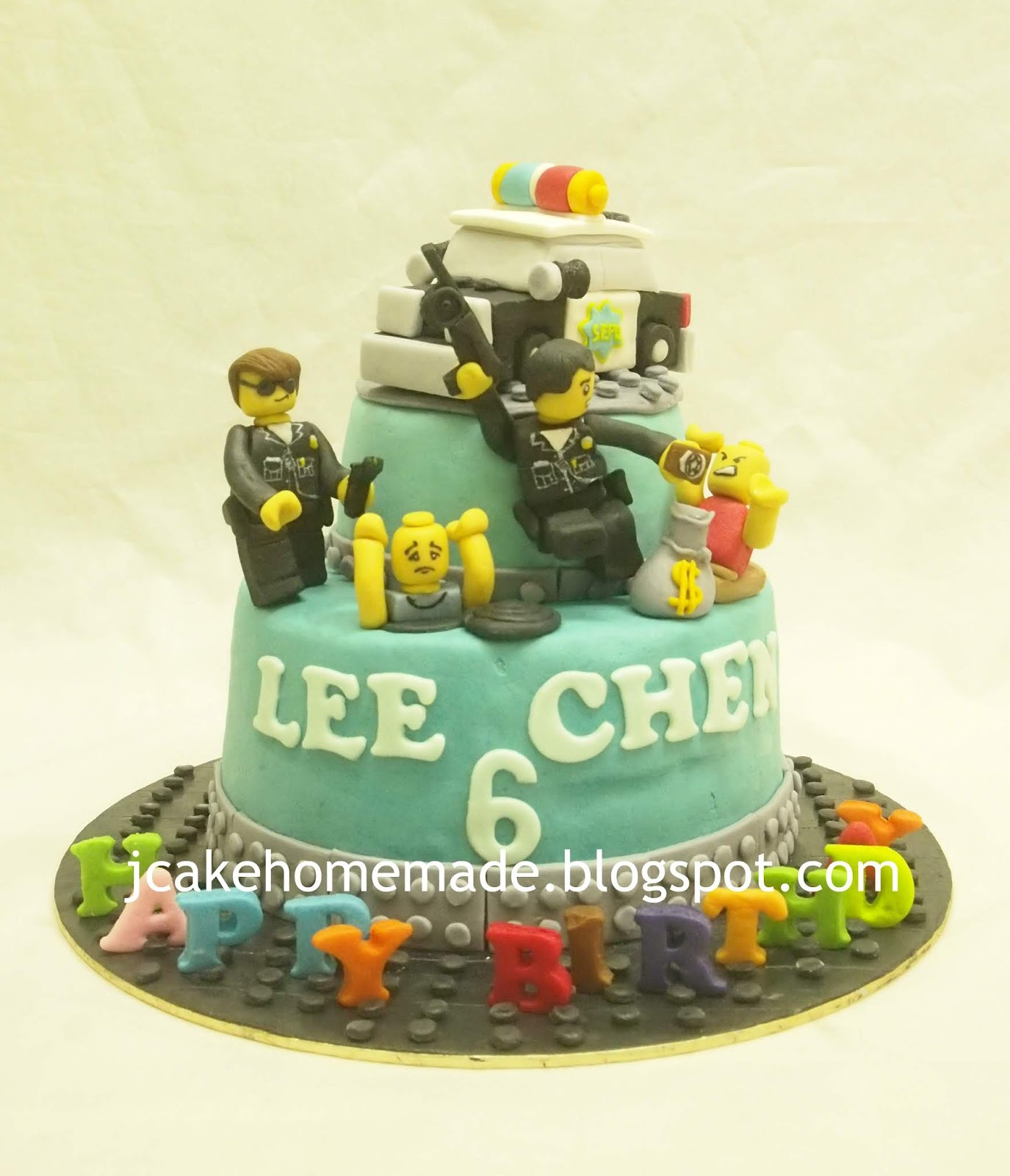 Terrific Jcakehomemade Lego Police Birthday Cake Funny Birthday Cards Online Alyptdamsfinfo