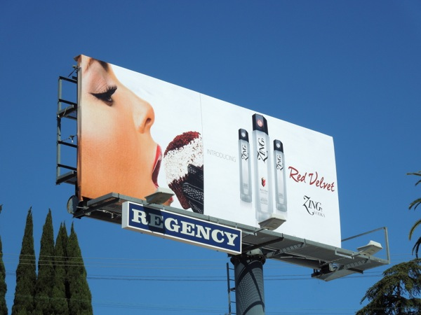 Red Velvet Zing Vodka billboard S