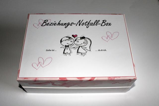 DIY, Basteln: Beziehungsnotfallbox, Ehenotfallbox in Liebesgeschenk, Geschenkideen und Wohnideen - DIYCarinchen