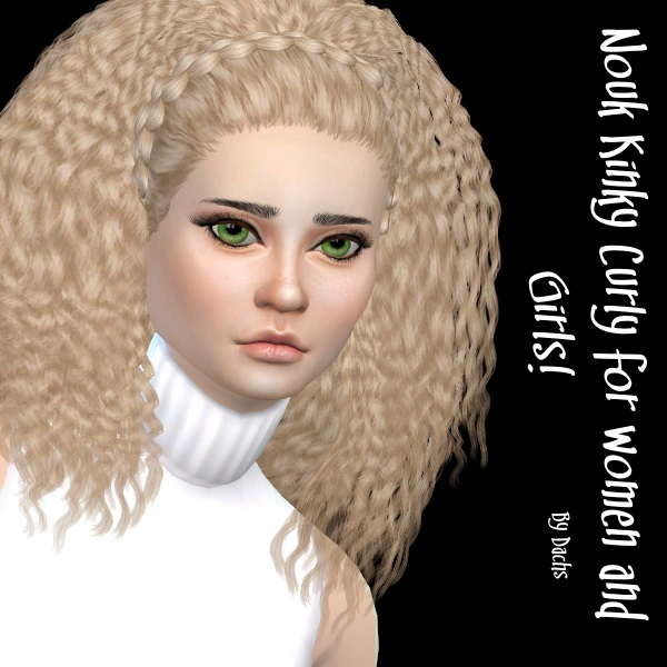 Curly Hair Download Sims 4 Cc: My Sims 4 Blog: Nouk Kinky Curly Hair Recolors By Dachs