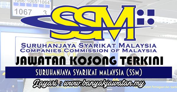 Jawatan Kosong 2017 di Suruhanjaya Syarikat Malaysia (SSM) www.banyakjawatan.my