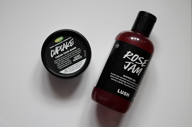 Lush Rose Jam and Lush Cupcake Face Mask