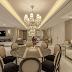 Salas com decoração clássica e contemporânea com toques de dourados!