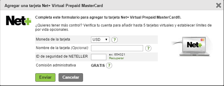 Crear y Verificar Neteller (saca tu tdc virtual)