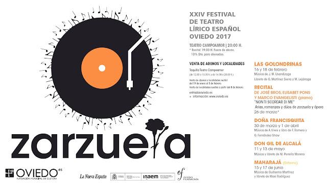 Cartel del festival de teatro lírico de Oviedo