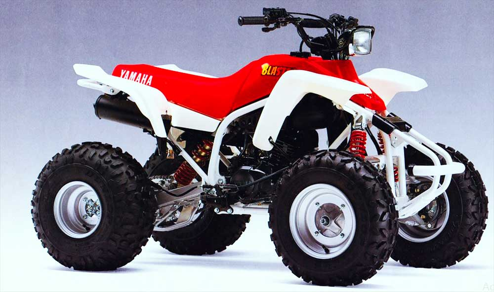 1988 Yamaha Blaster 200 2-stroke Atv White Red