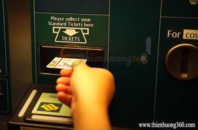 Khe nhận thẻ Standard Ticket