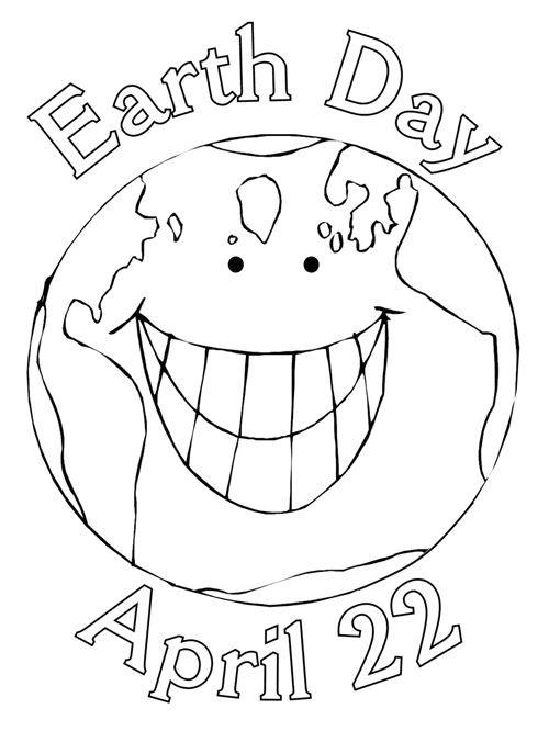 Beautiful Earth Day Posters To Color Free