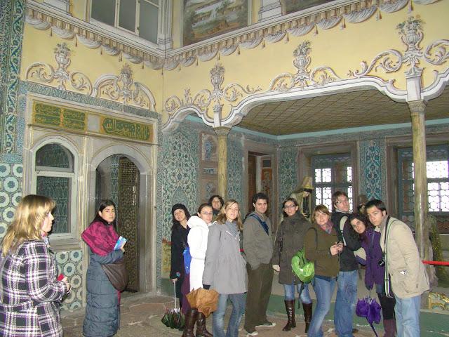 En el palacio Topkapi de Estambul