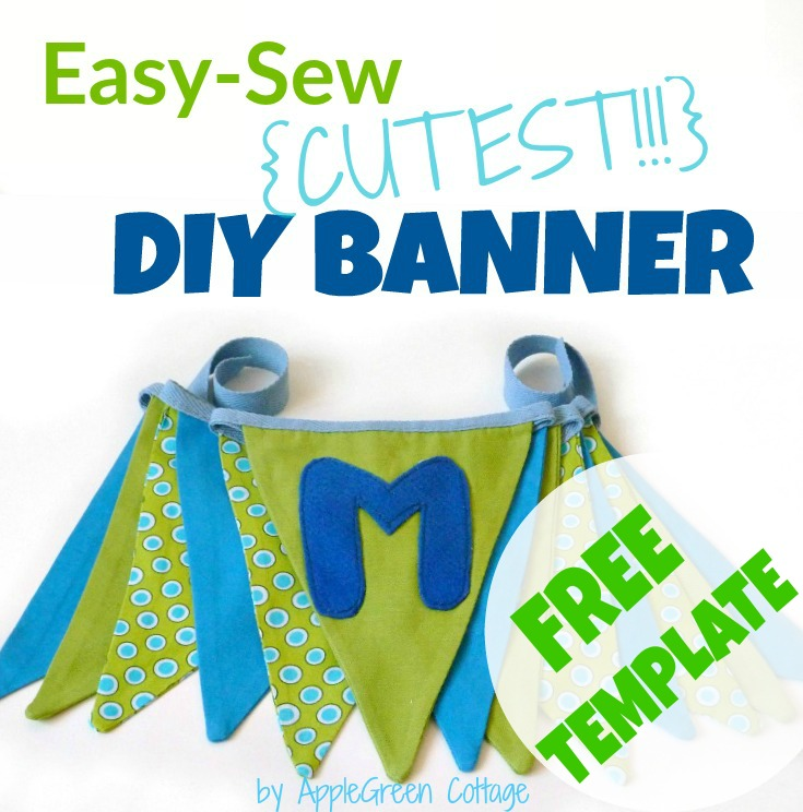 DIY Fabric Bunting Banner - Tutorial and Free PDF Template